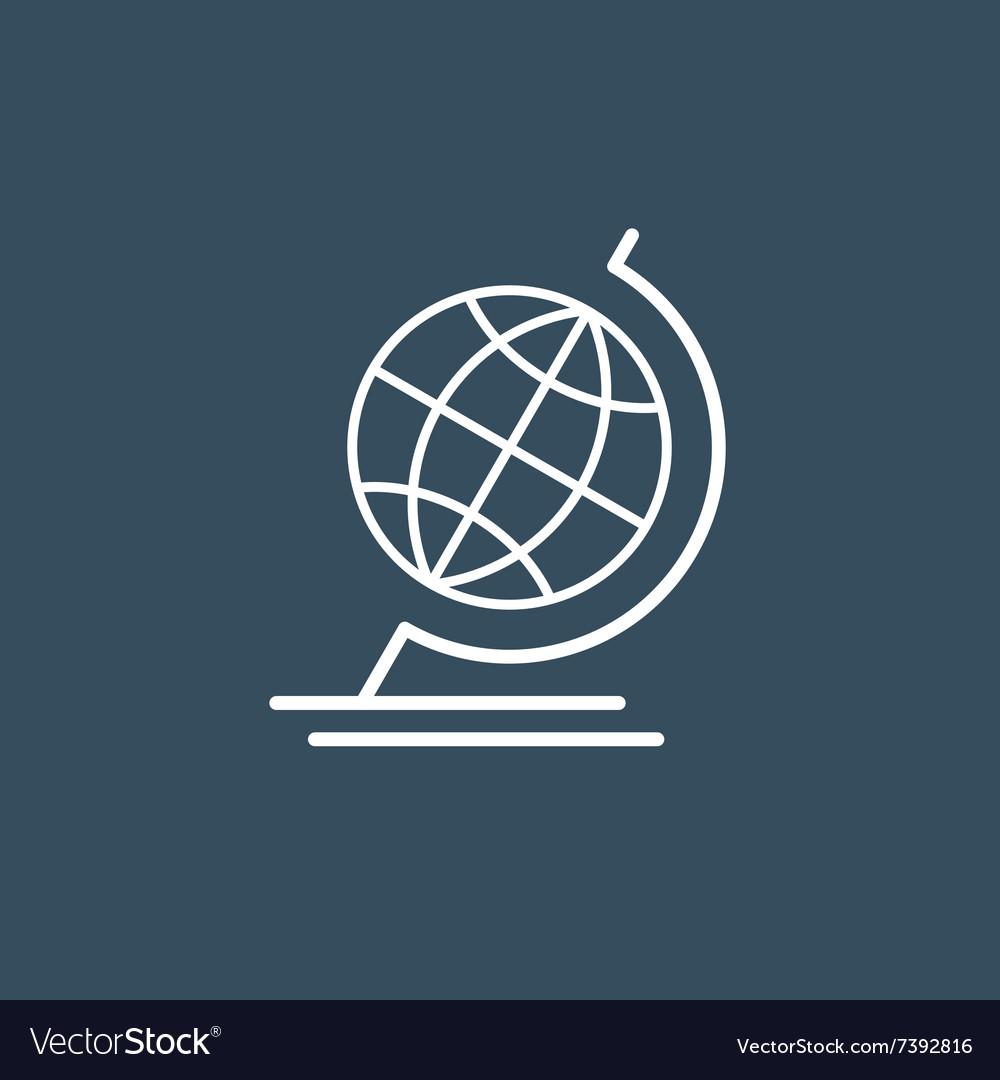 Terrestrial globe wireframe icon vector image
