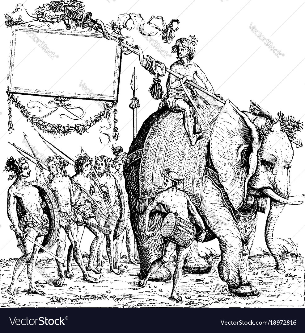 The savages of calicut from the engraving the vector image