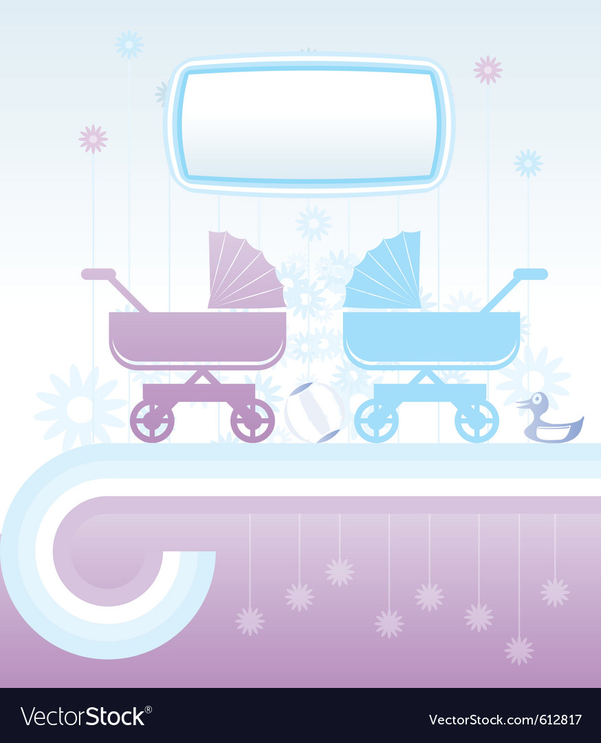 Baby and children background vector image