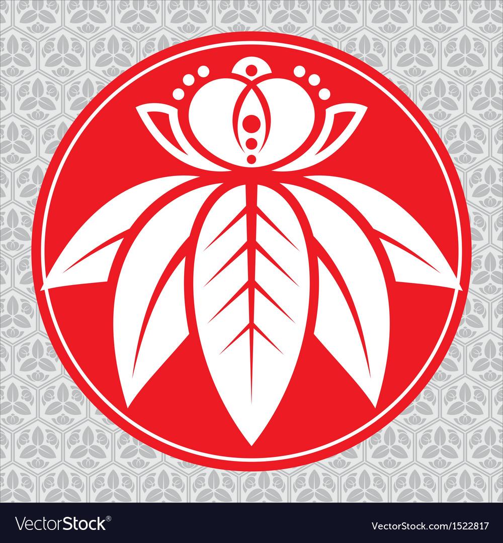 Japanese lotus vector image