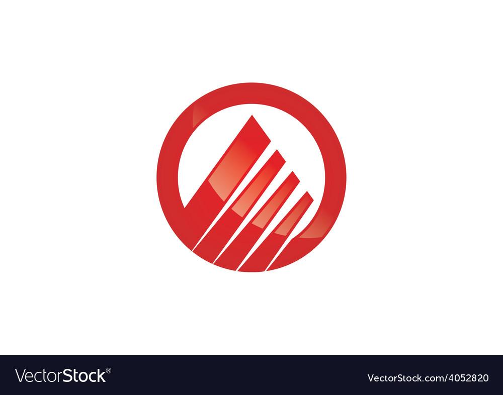 Circle graph finance abstract logo vector image