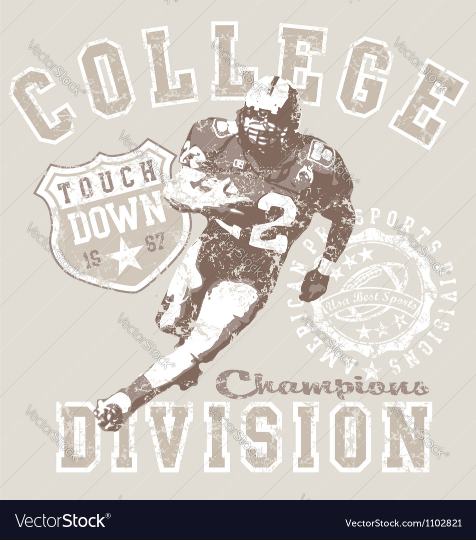 College football div vector image