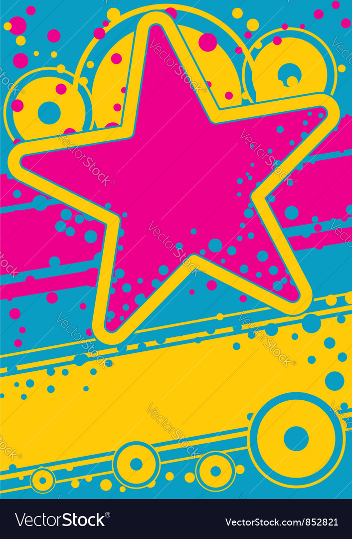 Retro poster Vector Image