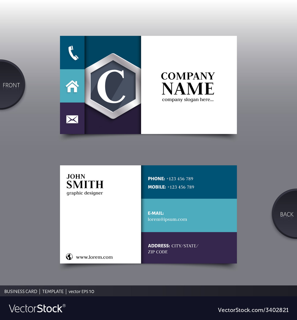 Abstract creative business card Royalty Free Vector Image