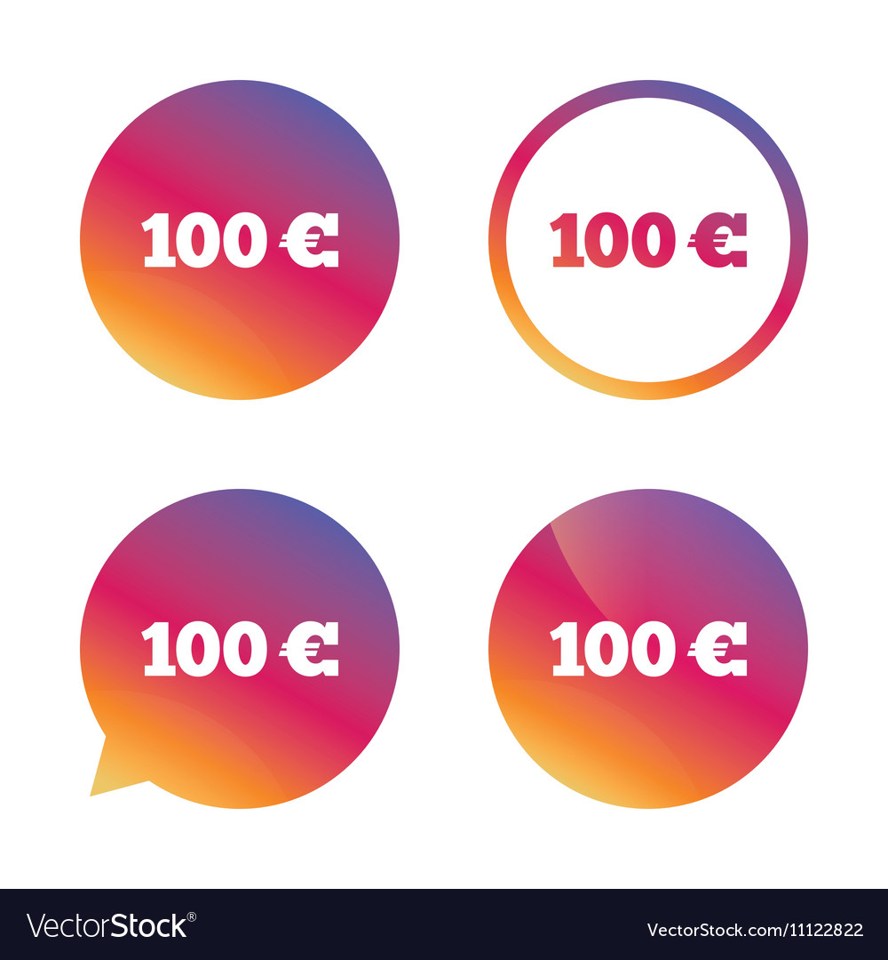 100 euro sign icon eur currency symbol royalty free vector 100 euro sign icon eur currency symbol vector image buycottarizona Image collections
