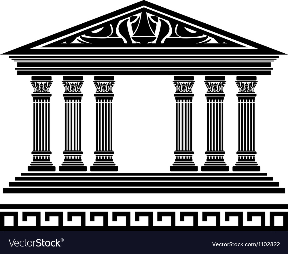 Fantasy temple fourth variant Vector Image