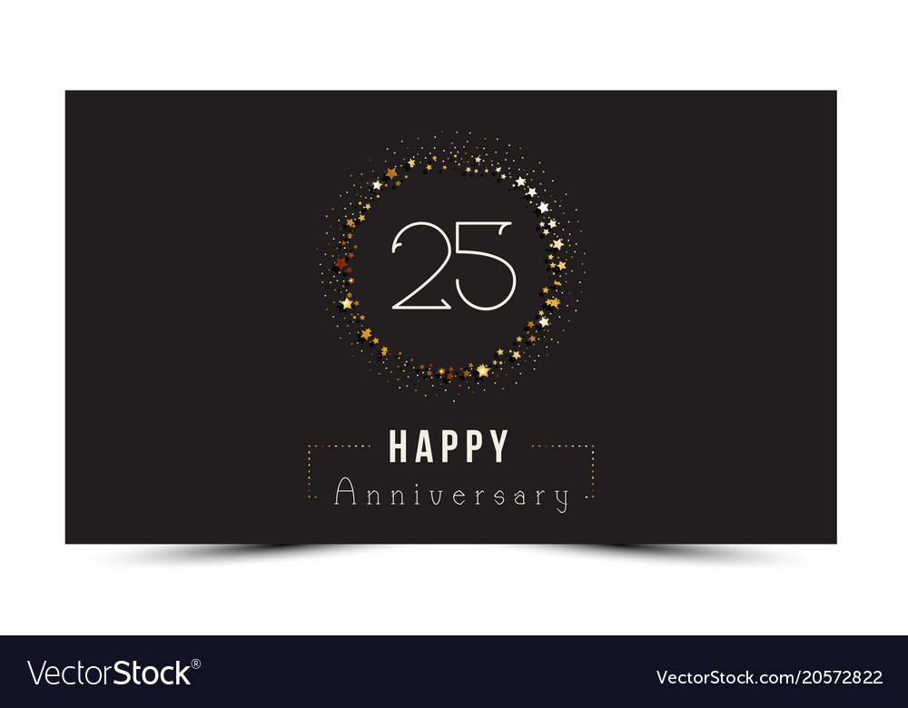 Years happy anniversary card royalty free vector image