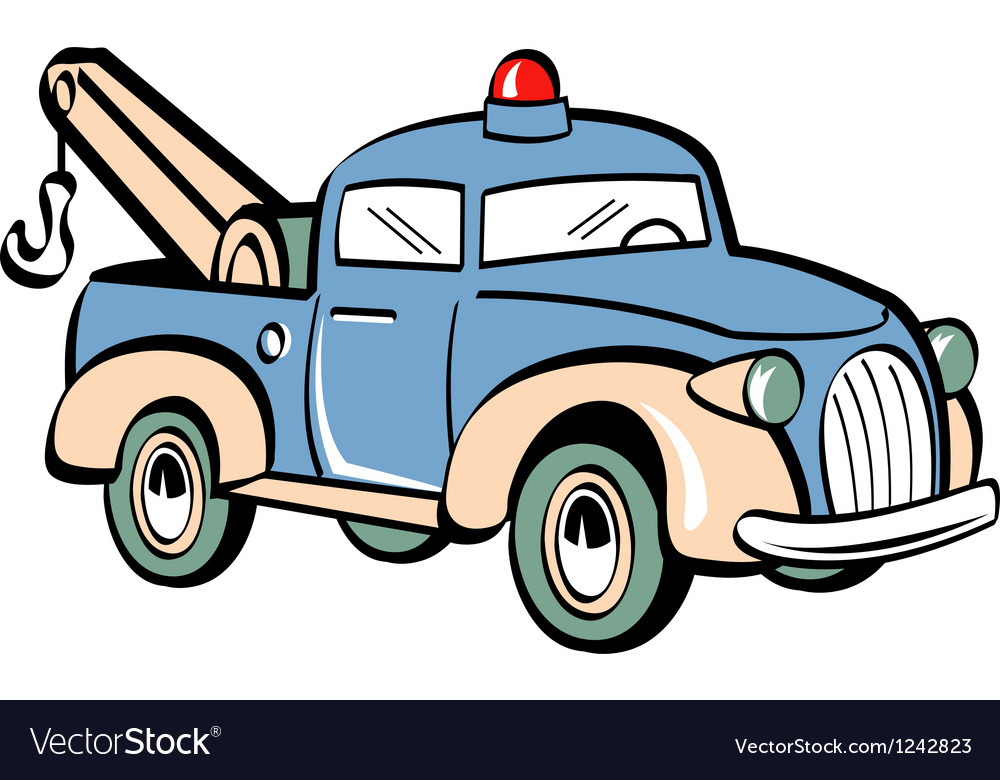 toy tow truck royalty free vector image vectorstock rh vectorstock com cartoon tow truck vector tow truck vector free download