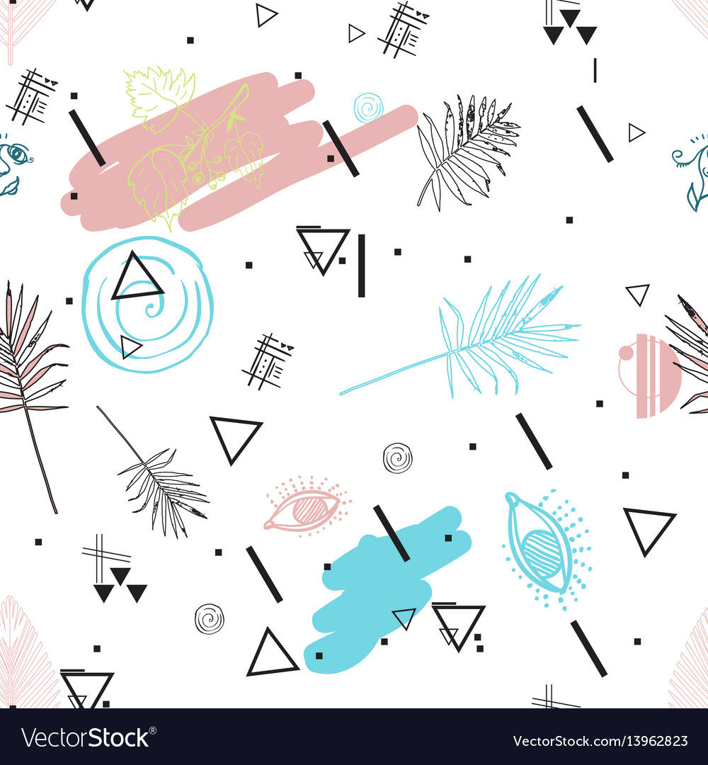 Universal tropical seamless pattern vector image