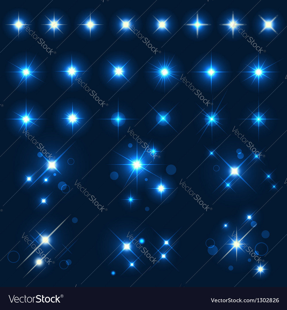 Collection of various forms of sparks vector image