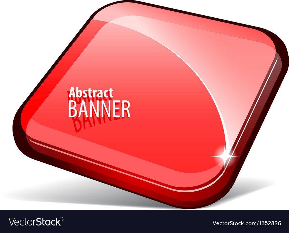 Shiny red banner vector image