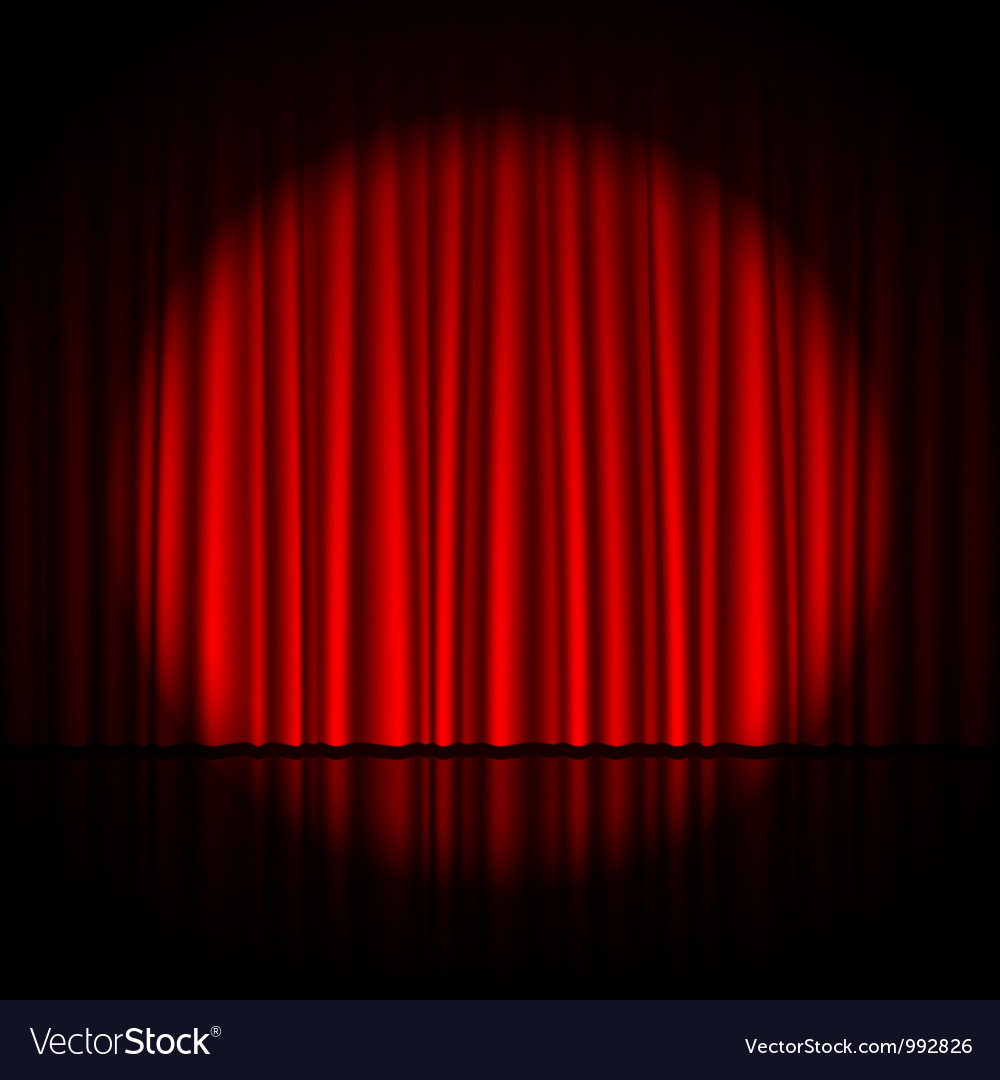 Blue stage curtains blue stage curtain vector free vector in - Spotlight On Stage Curtain Vector Image