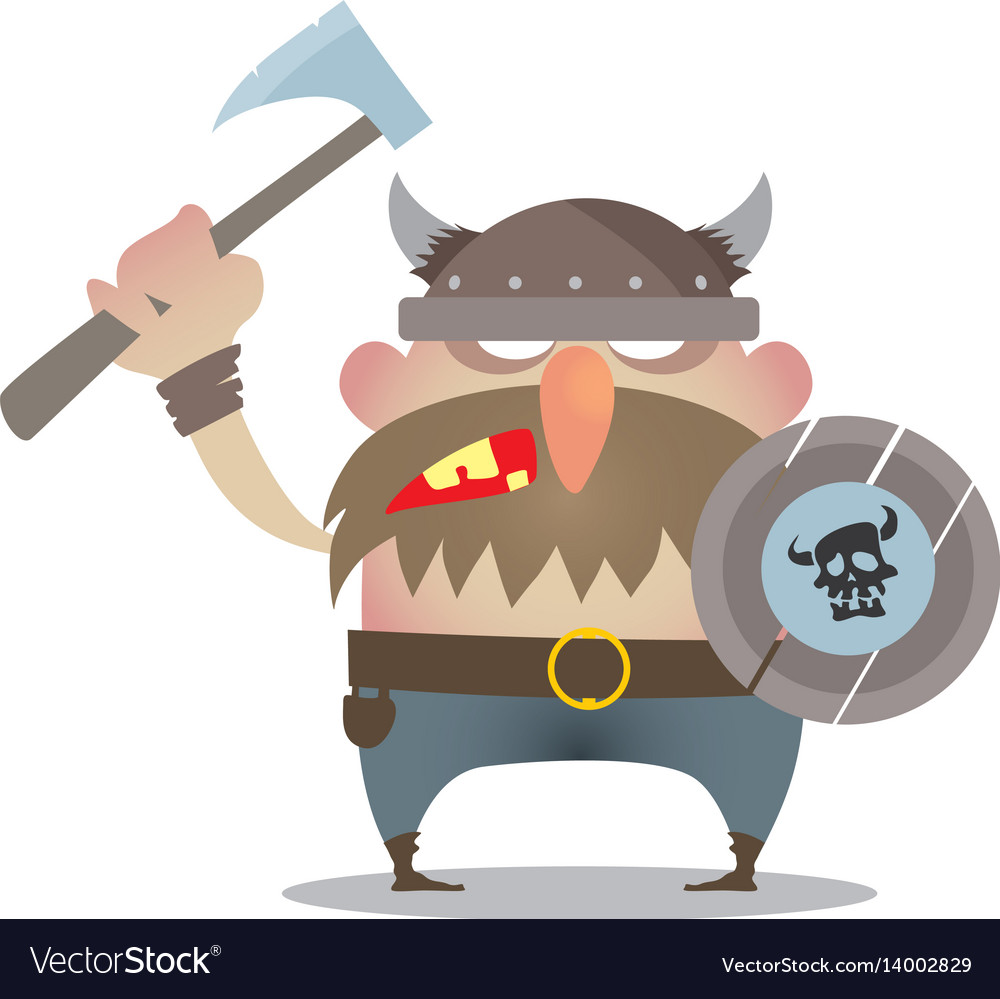 Battle cry of the vikings vector image