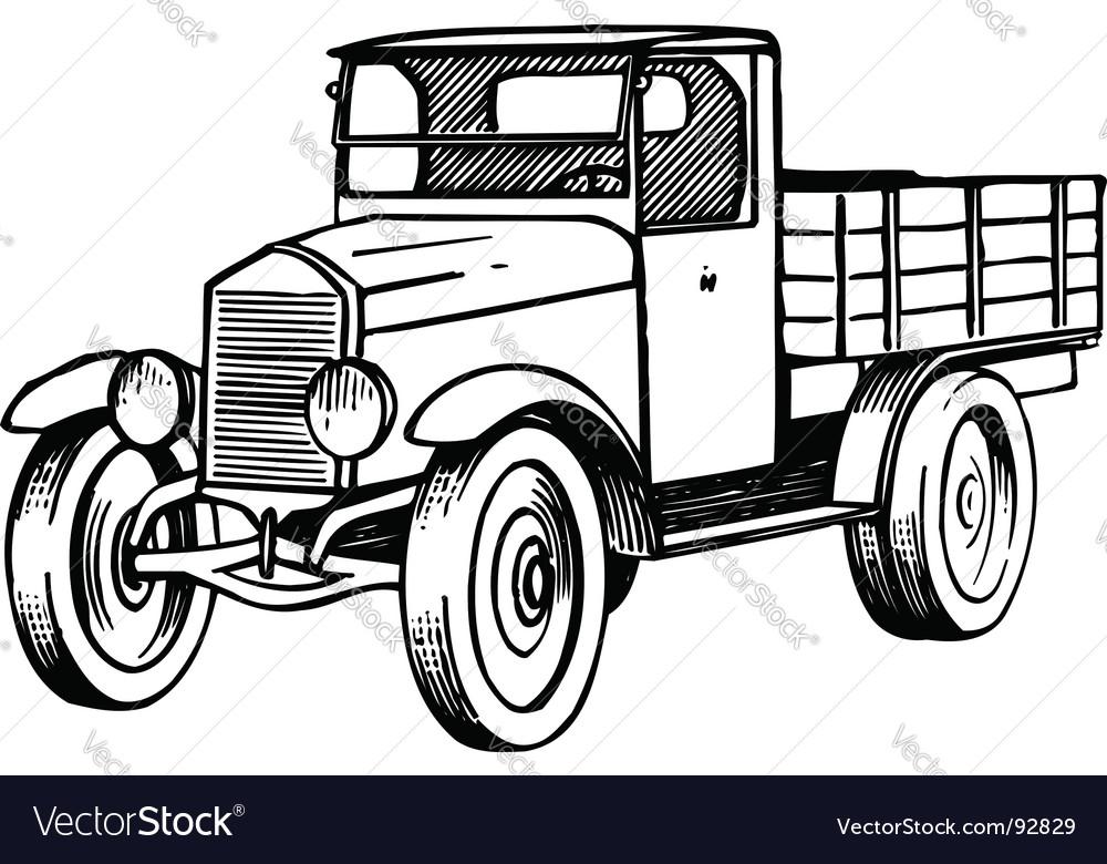 Old car Royalty Free Vector Image - VectorStock