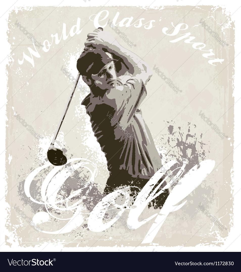Golf world class vector image