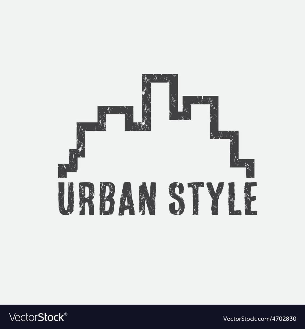 Grunge urban style design template vector image