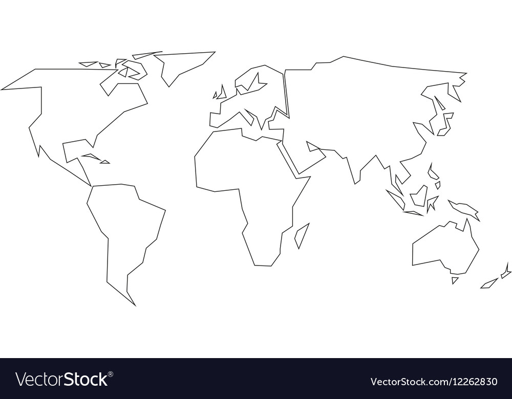 Simplified black outline of world map divided to vector image simplified black outline of world map divided to vector image gumiabroncs Choice Image