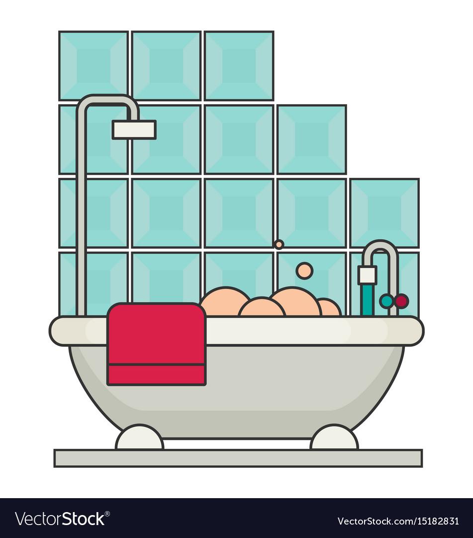 Bath flat vector image