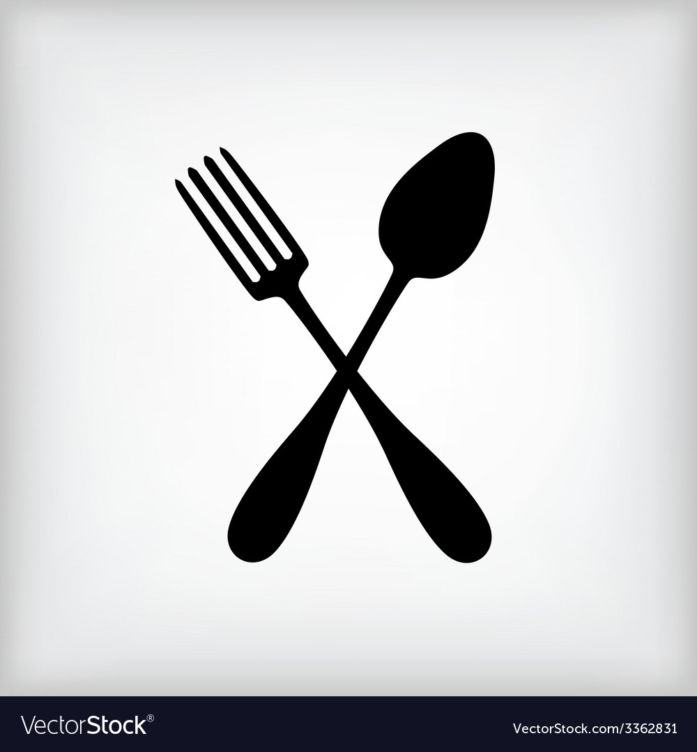Spoon gray vector image