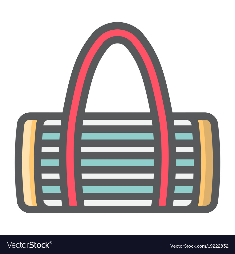 Fitness bag filled outline icon fitness vector image