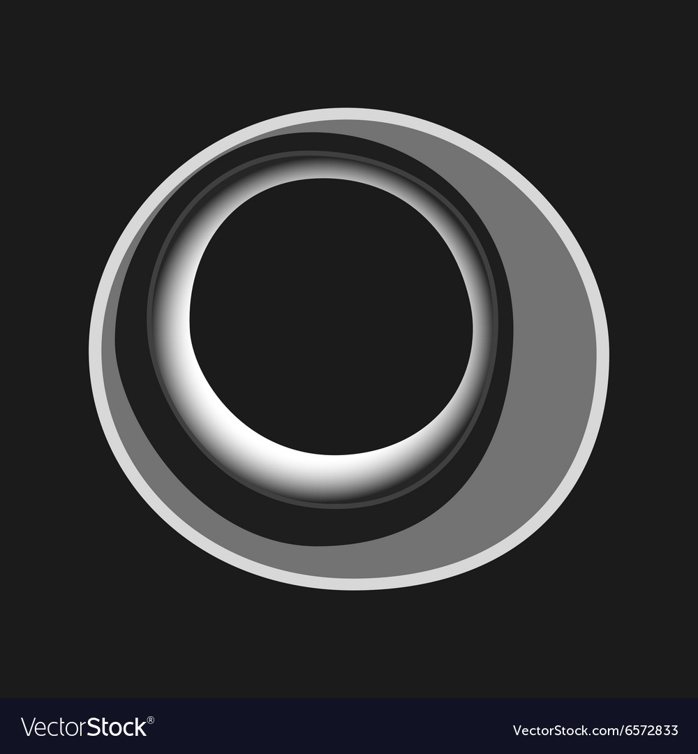 Black white abstract circles for cover vector image