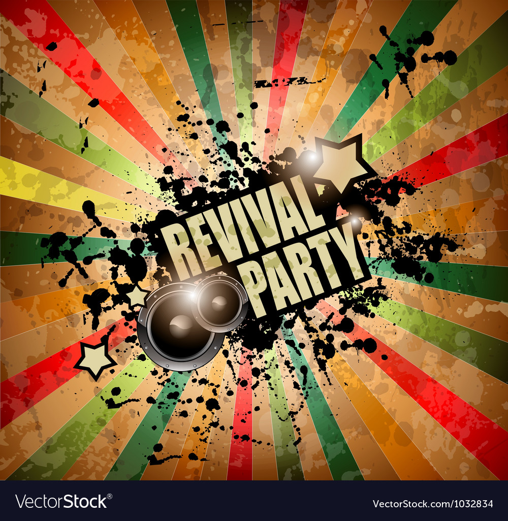 Club party flyer vector image