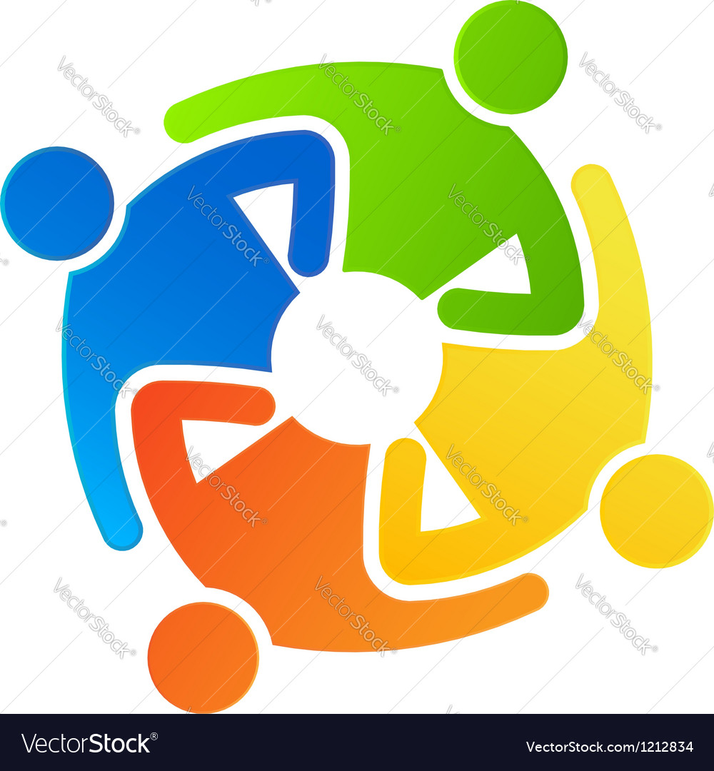 Teamwork together 4 Vector Image