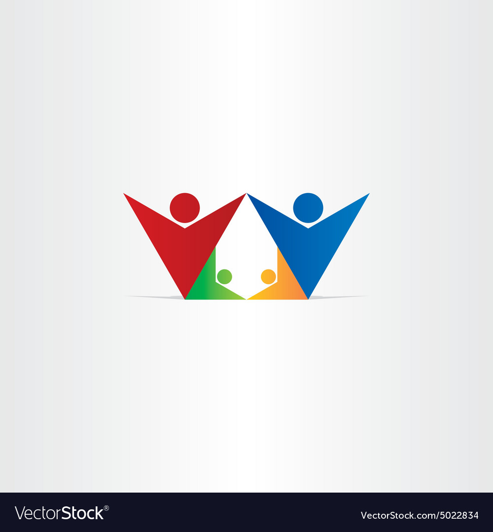 Mother father and children happy family vector image