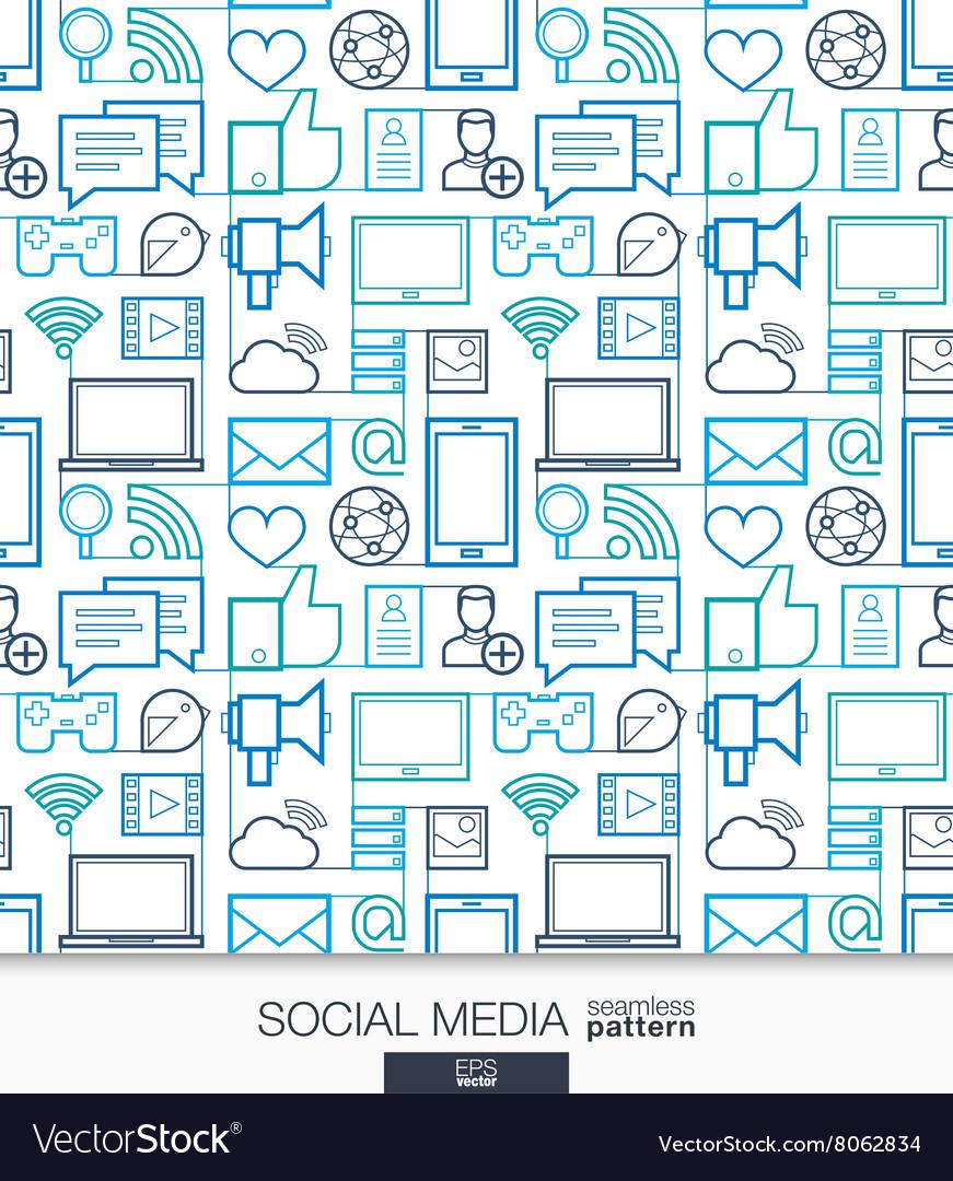 Social Media wallpaper Network communication vector image