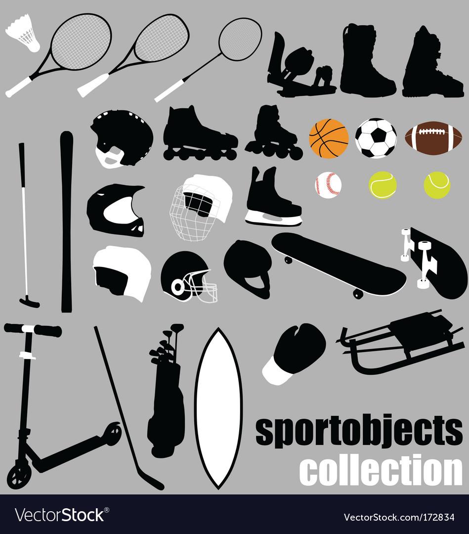 Sport equipment set vector image