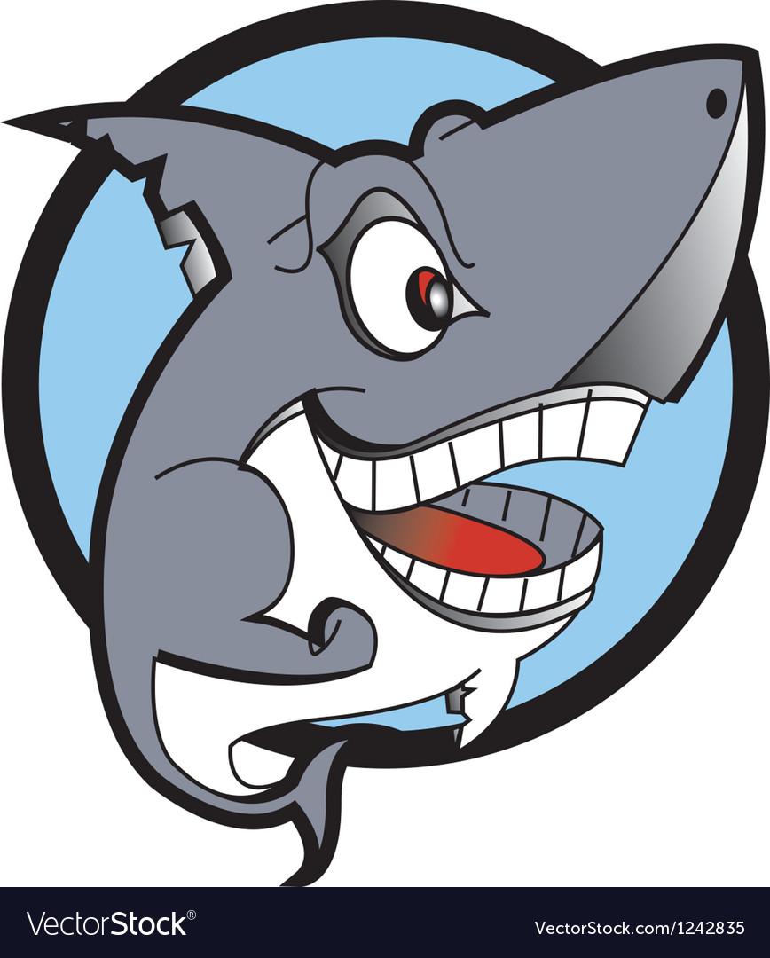 Danger shark logo vector image