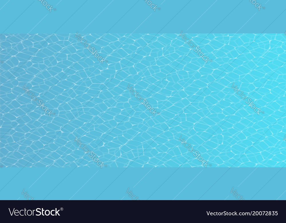 Caustic of pool water seamless texture Royalty Free Vector