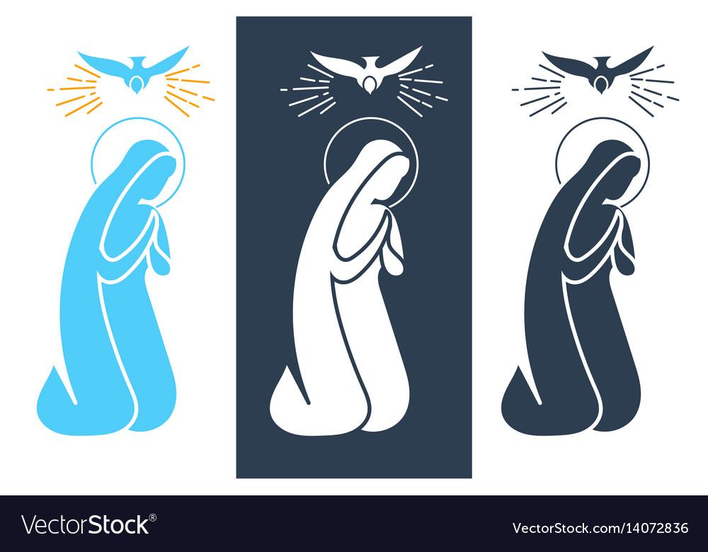 Annunciation virgin mary icon vector image