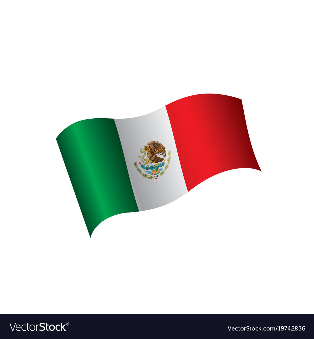 mexican flag royalty free vector image vectorstock rh vectorstock com mexican fiesta flag vector mexican fiesta flag vector