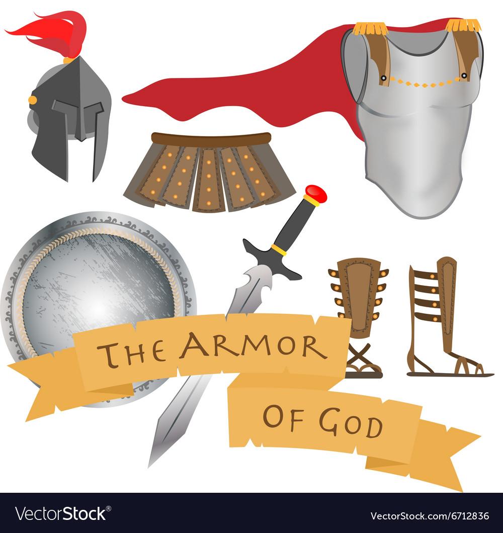 The Armor of God Warrior Jesus Christ Holy Spirit vector image