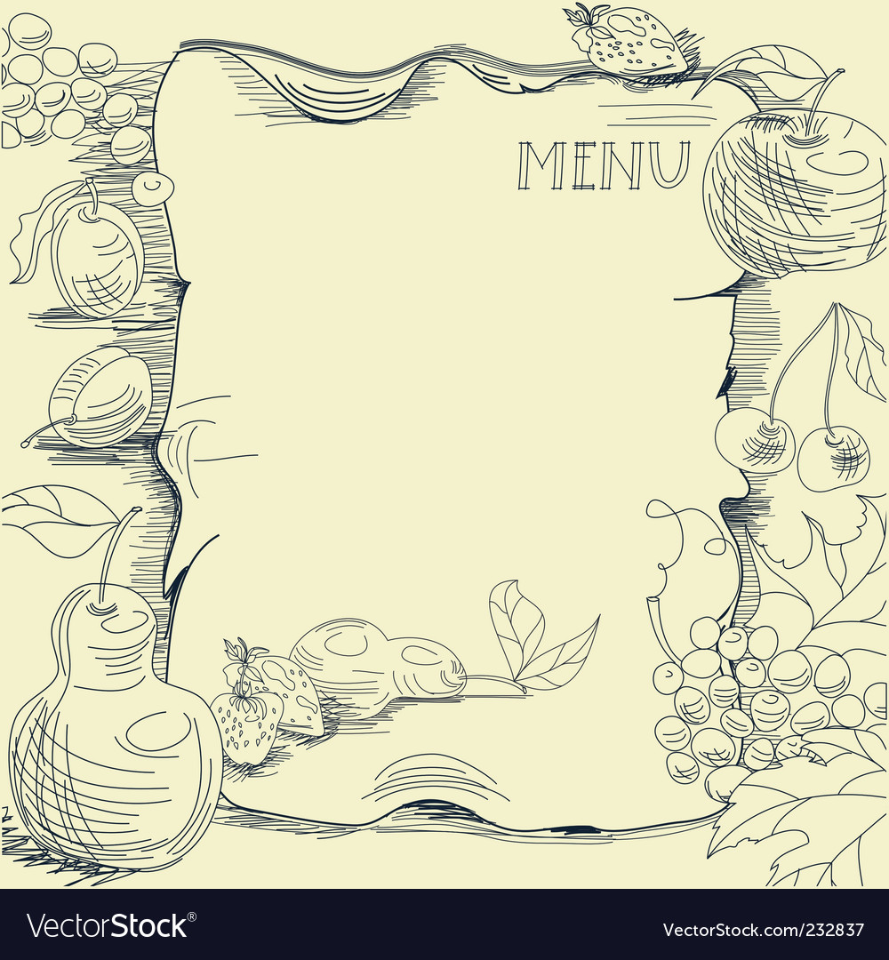 Template for restaurant menu vector image