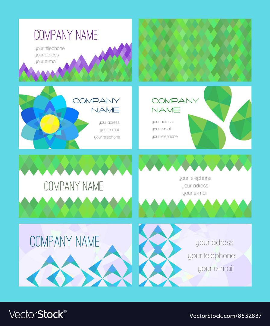 Set of modern visit card vector image