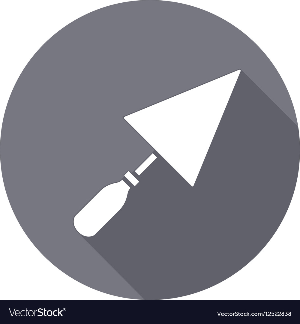 Tool icon Spattle surfacer plastering vector image