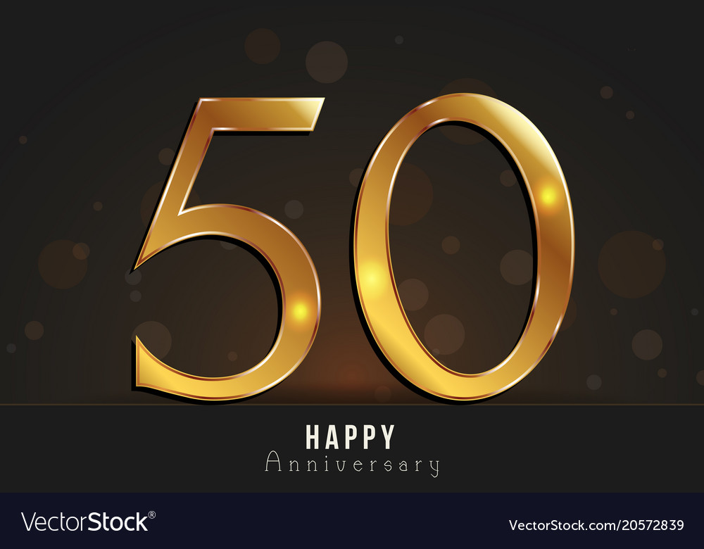 50 years happy anniversary card royalty free vector image