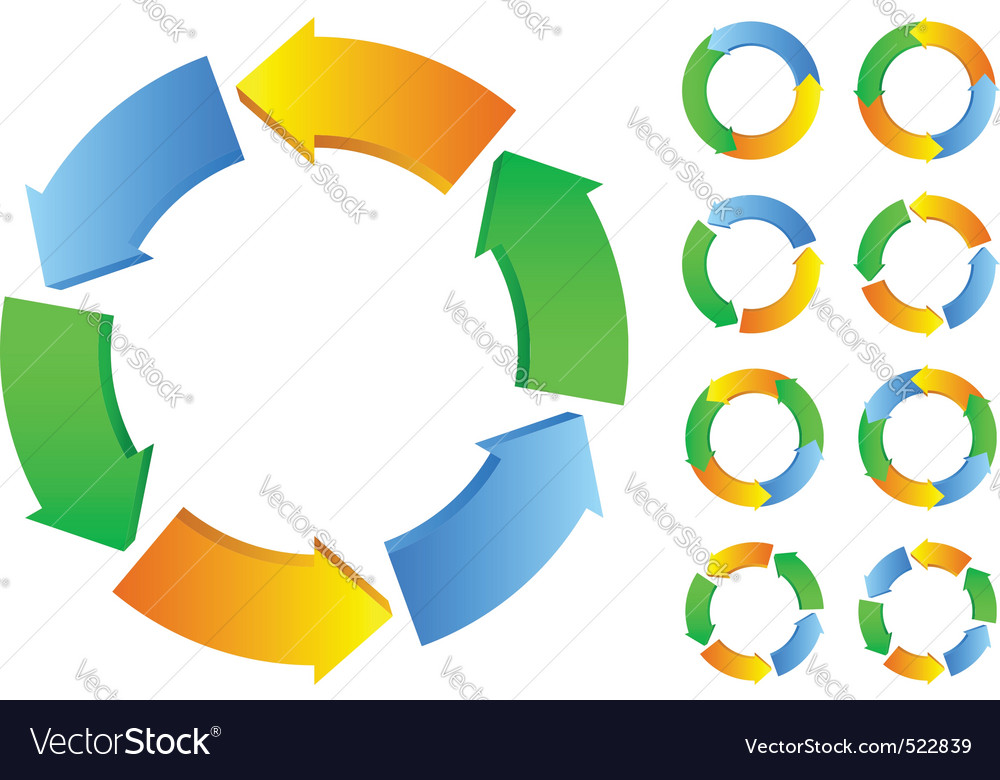 Circles with arrows vector image