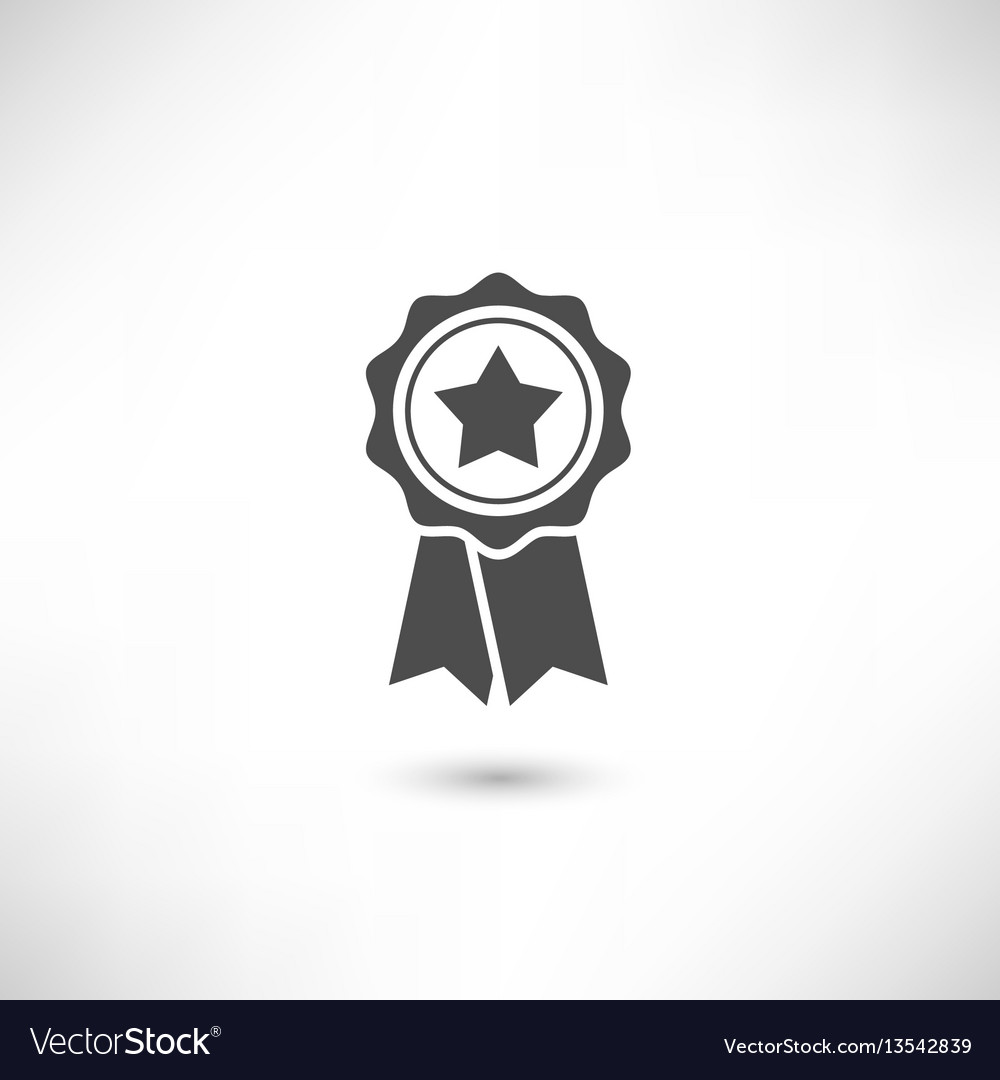 Badge star vector image