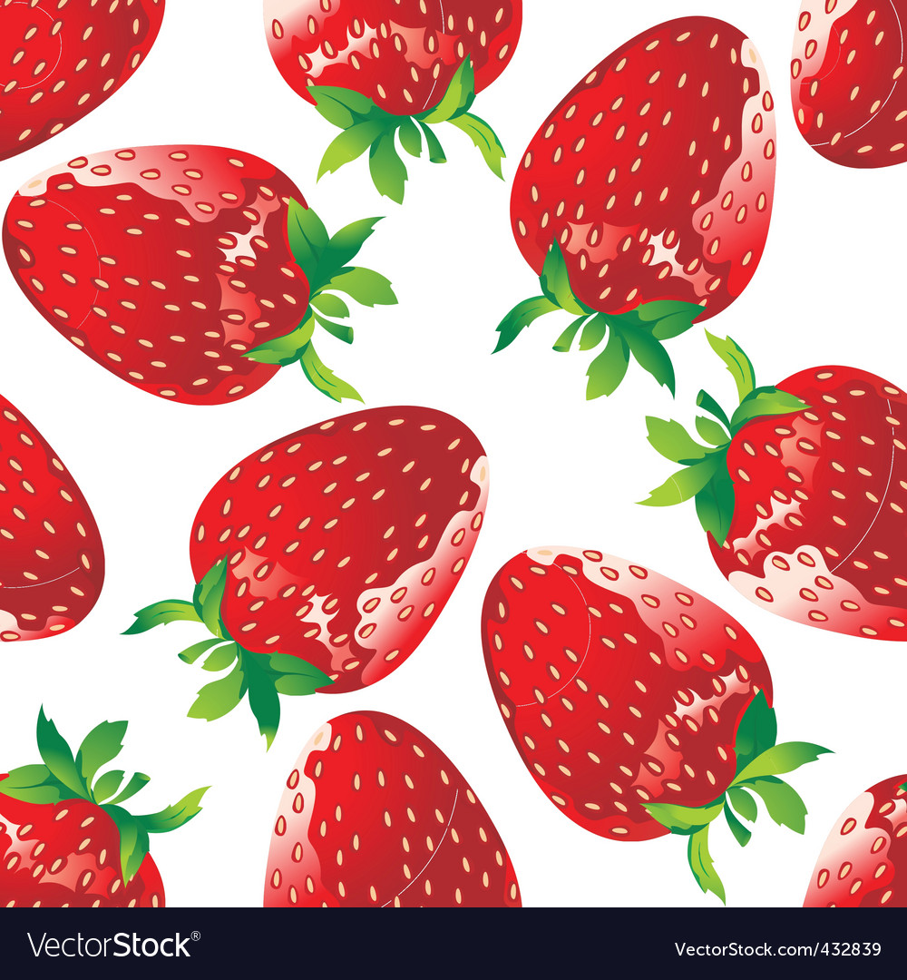 Strawberry pattern Royalty Free Vector Image - VectorStock
