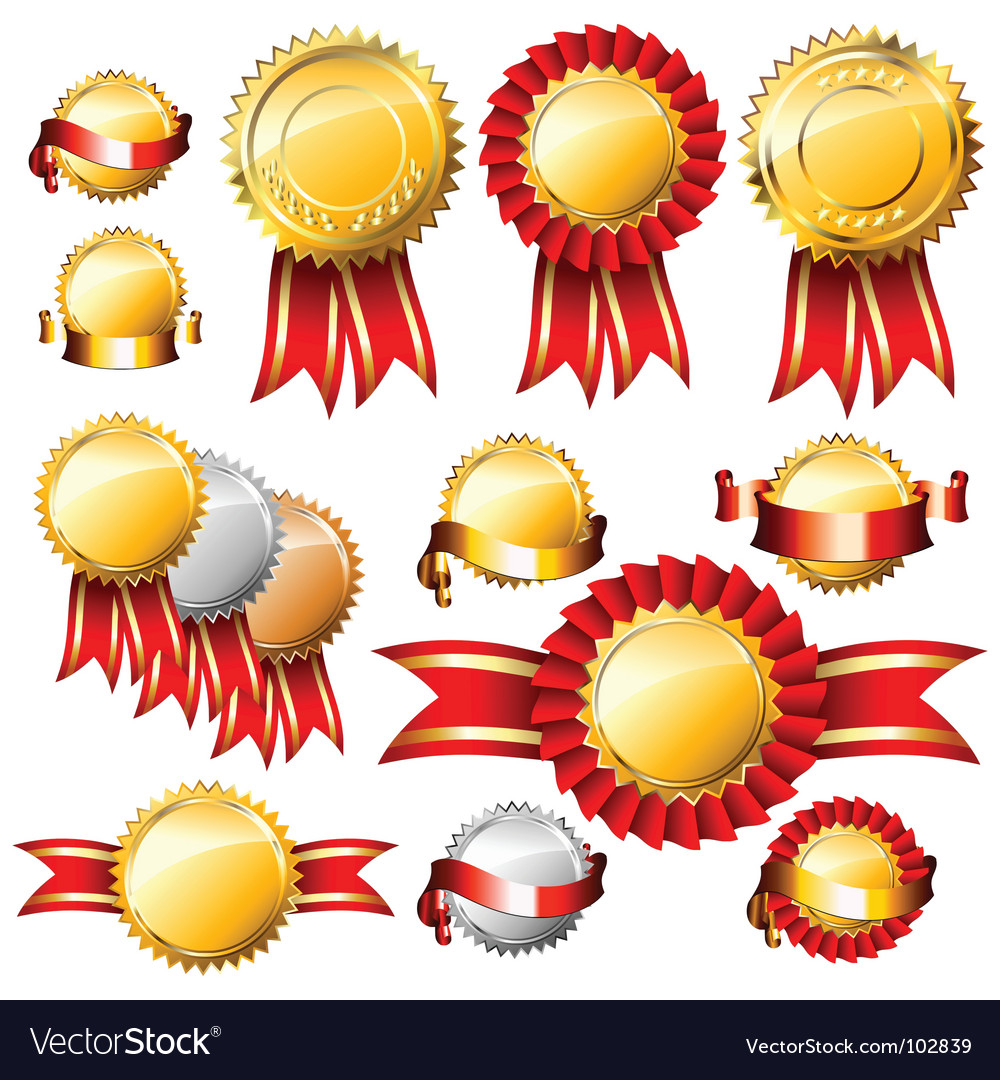 Tags and ribbons vector image