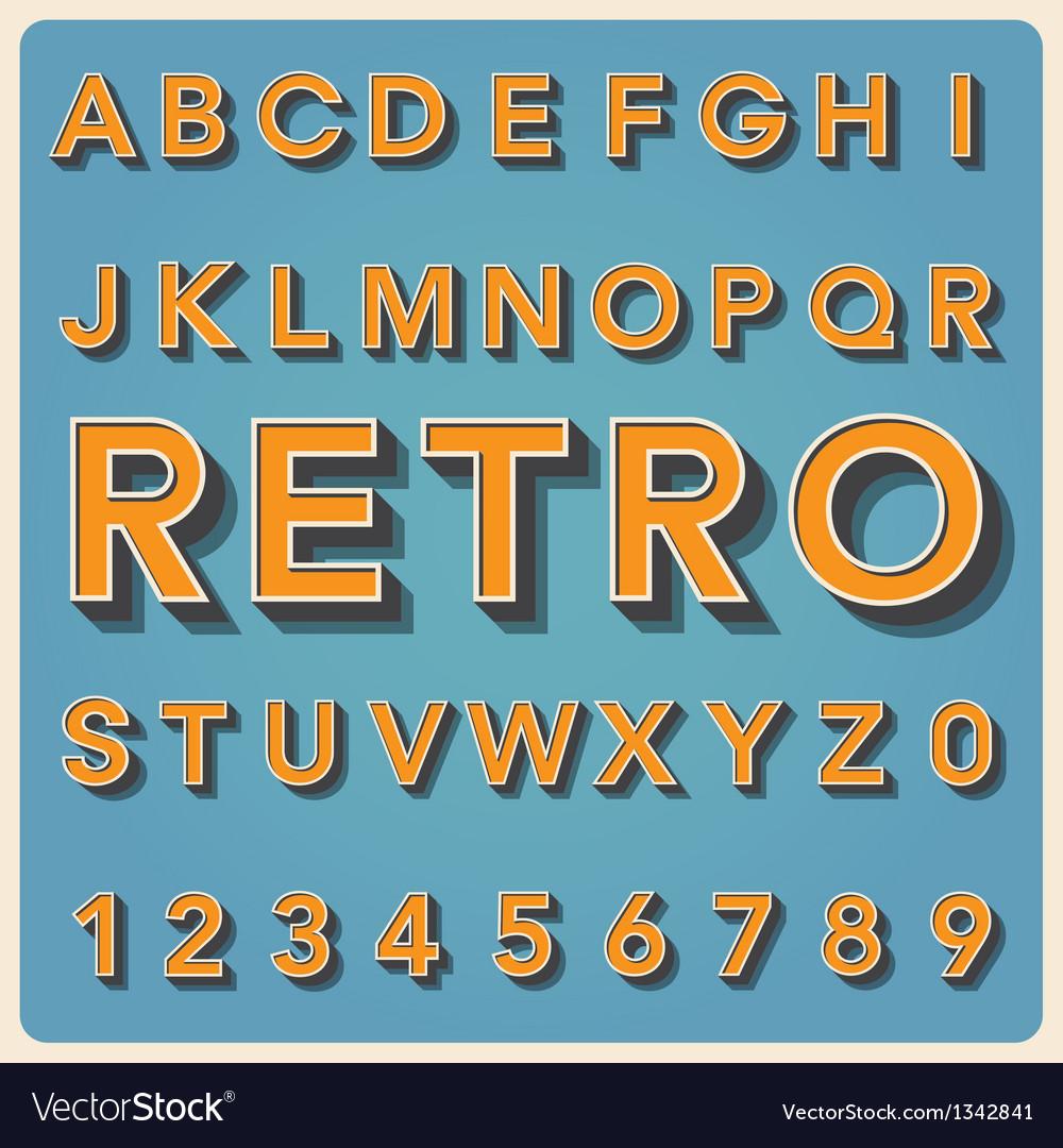 Retro type font vintage typography EPS10 vector image