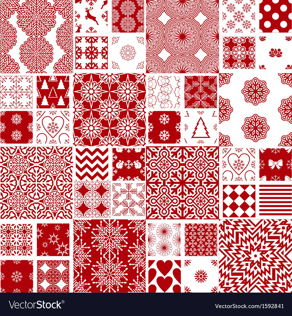 Collection of Christmas backgrounds vector image