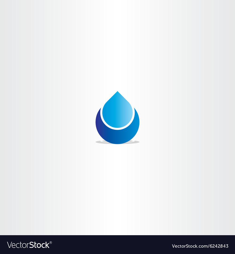 Blue logo drop water icon sign vector image