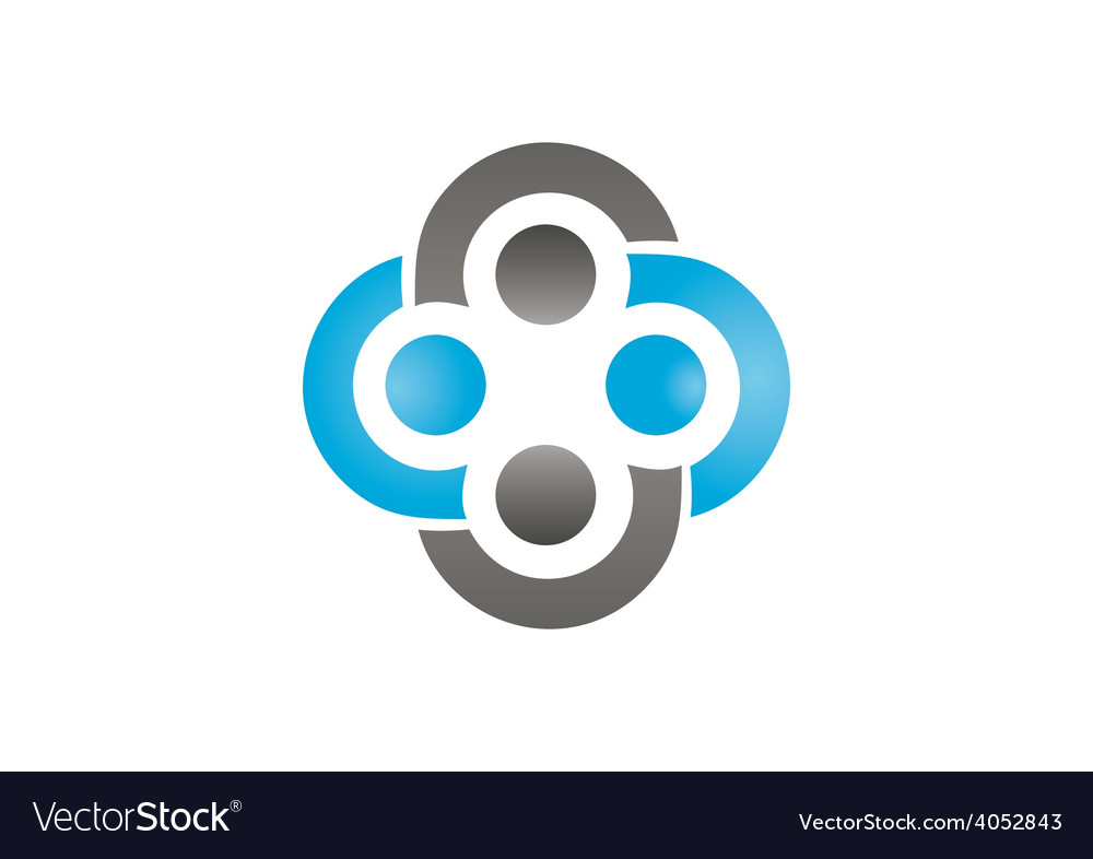 Circle group teamwork abstract logo vector image