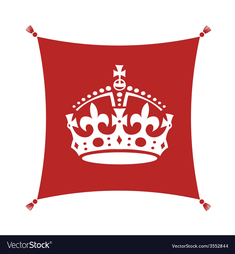 Crown on cushion vector image
