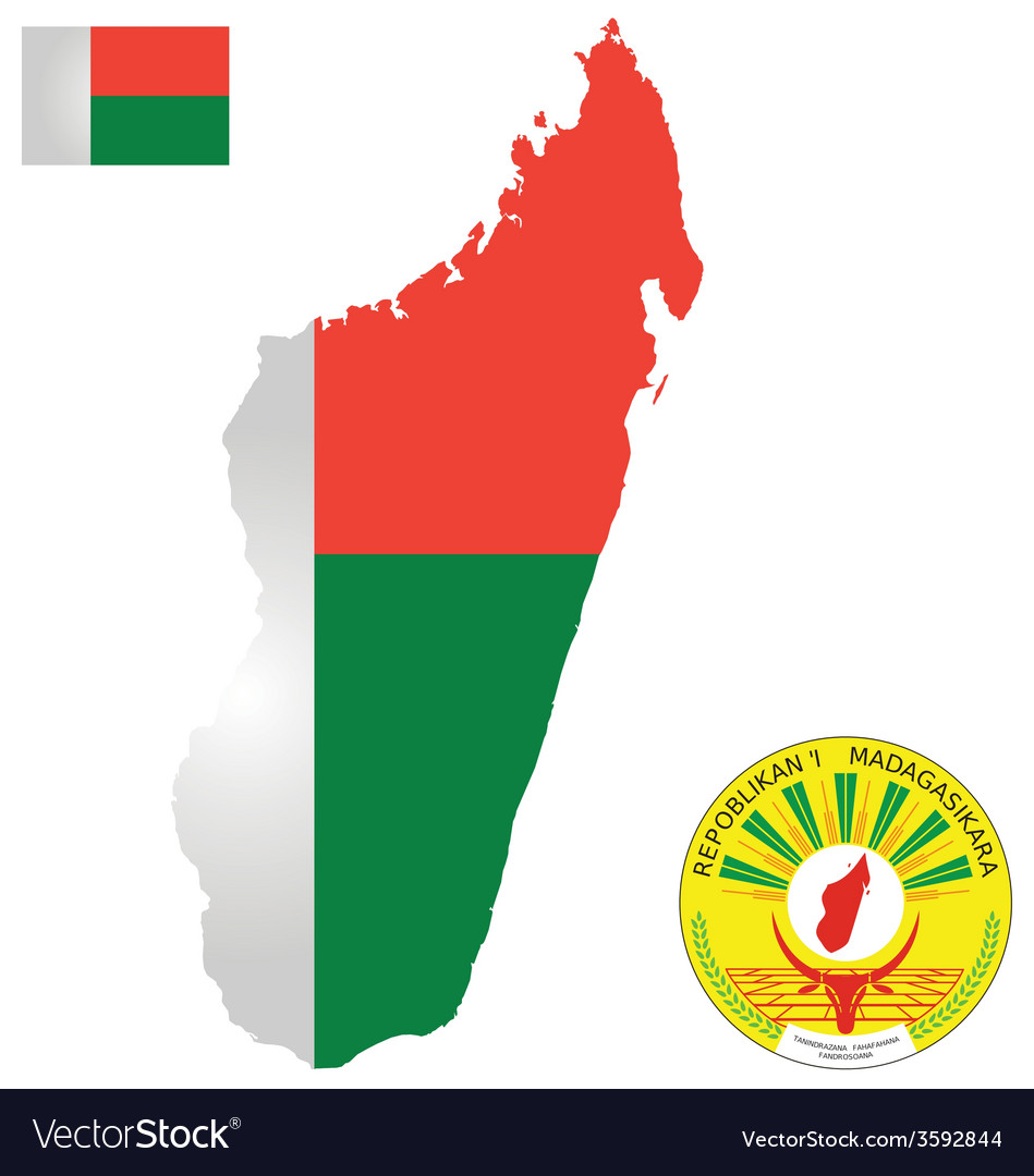 Republic Of Madagascar Flag Royalty Free Vector Image - Madagascar flag