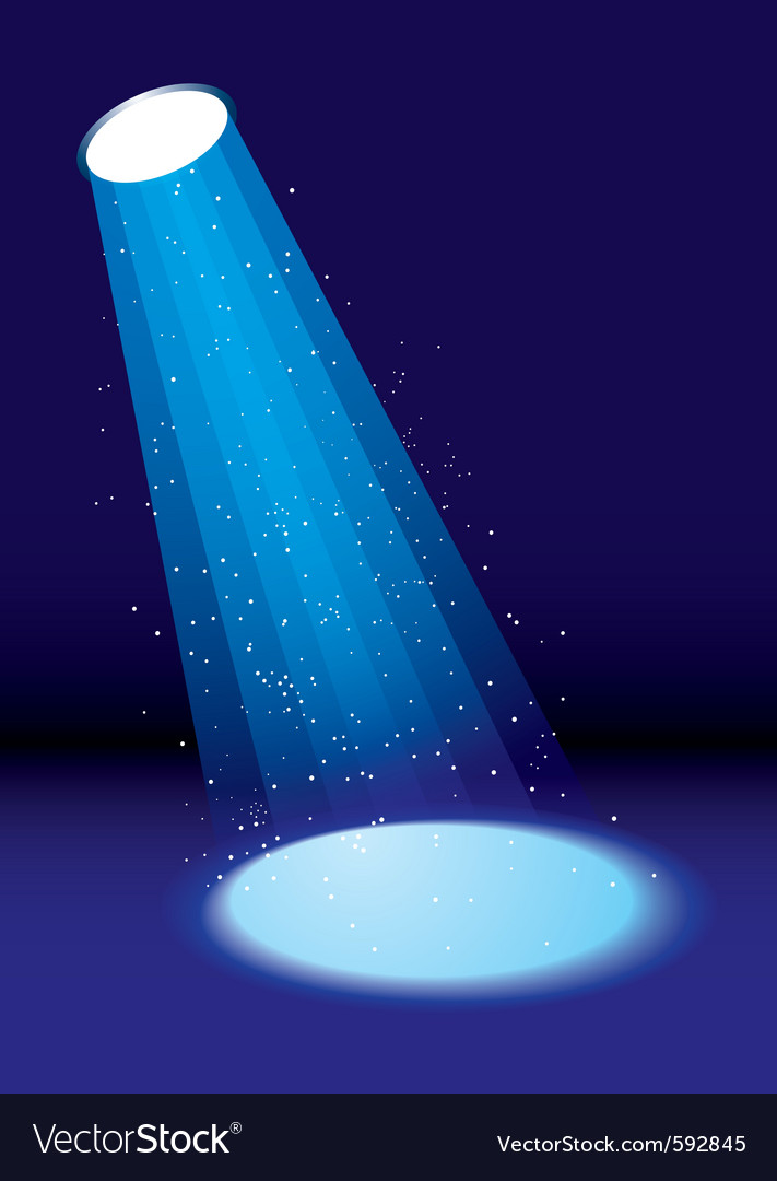 Single spotlight vector image